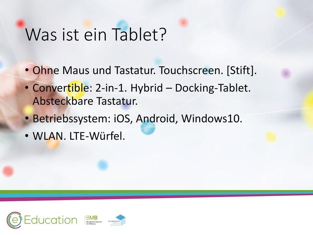 Was ist ein Tablet Ohne Maus und Tastatur. Touchscreen. [Stift].